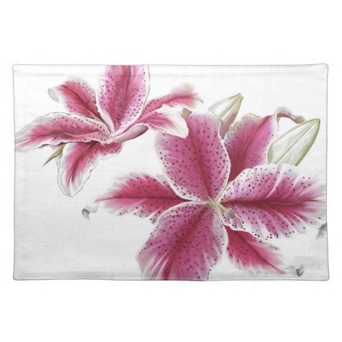 Stargazer Lilies Cloth Placemat