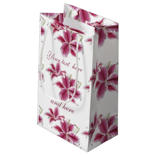 Stargazer Lillies Personalized Small Gift Bag