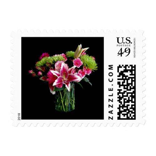 Stargazer Lily Bouquet Postage Stamp