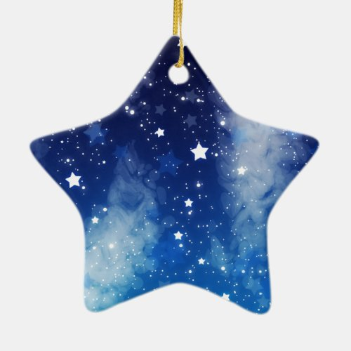 Blue Christmas Ornaments Glowing Holidays
