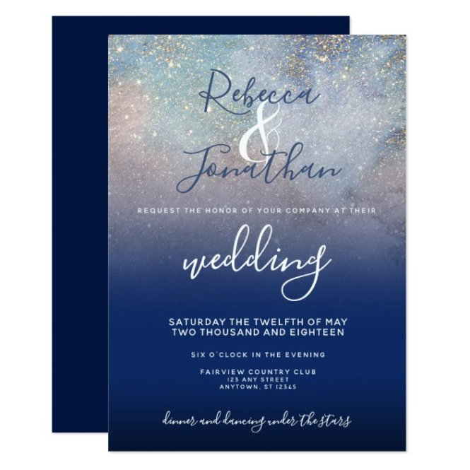 Starry Night Navy And Gold Wedding