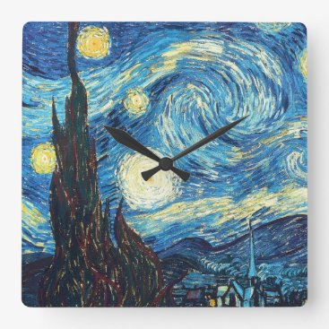 Starry Night - Vincent Van Gogh Wall Clock