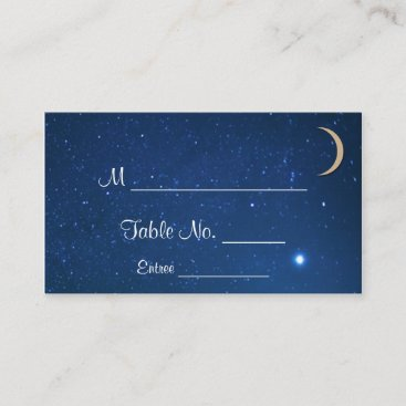 Starry Night Wedding Place Cards