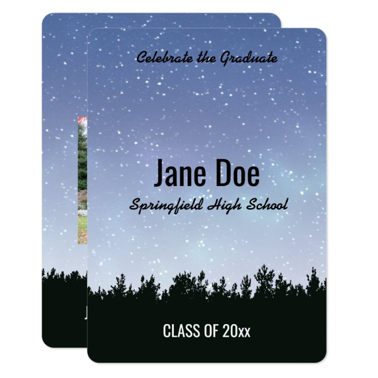Starry Sky Personalized Graduation Invitation