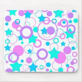 Stars and circles - Mousepad