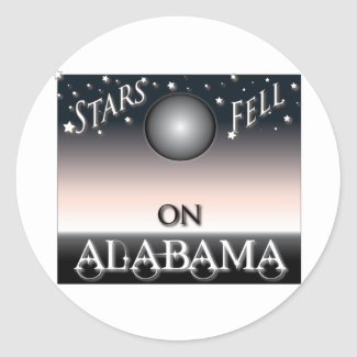Stars Fell On Alabama Round Stickers