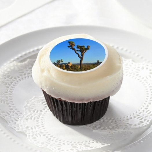 Stately Joshua Tree Edible Frosting Rounds