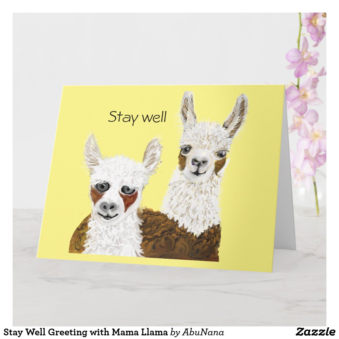 Stay Well Greeting with Mama Llama Card
