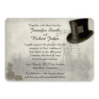 Steampunk Wedding Theme Invitations And