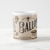 Steampunk Le Balloon Giant Coffee Mug