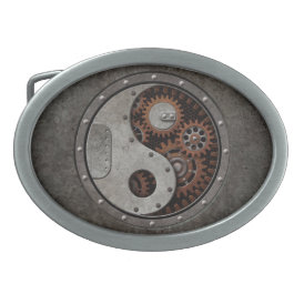 Steampunk Yin Yang Belt Buckle