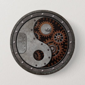 Steampunk Yin Yang Pinback Button