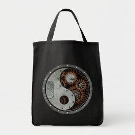 Steampunk Yin Yang Tote Bag