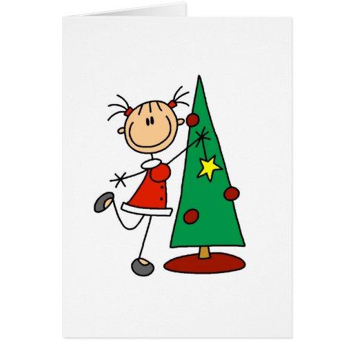 Stick Figure Holiday Tree Card Zazzle