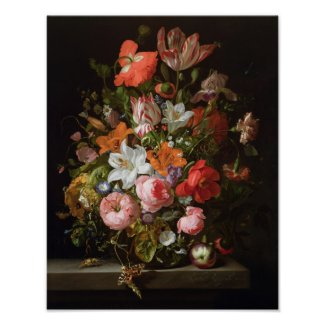 Still life of roses lilies, tulips posters