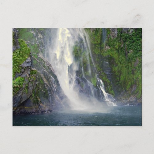 Stirling Falls, Milford Sound, NZ Postcard postcard