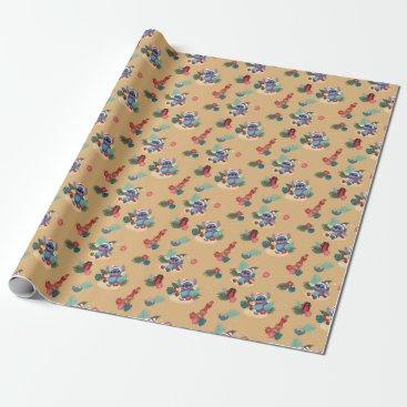 Stitch | Aloha Christmas Pattern Wrapping Paper
