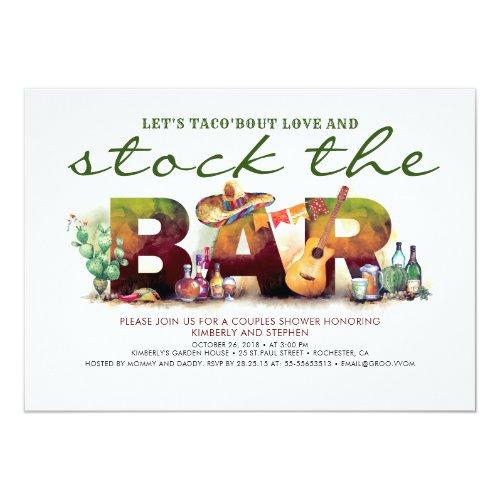 Stock the Bar Taco Fiesta Party Invitations