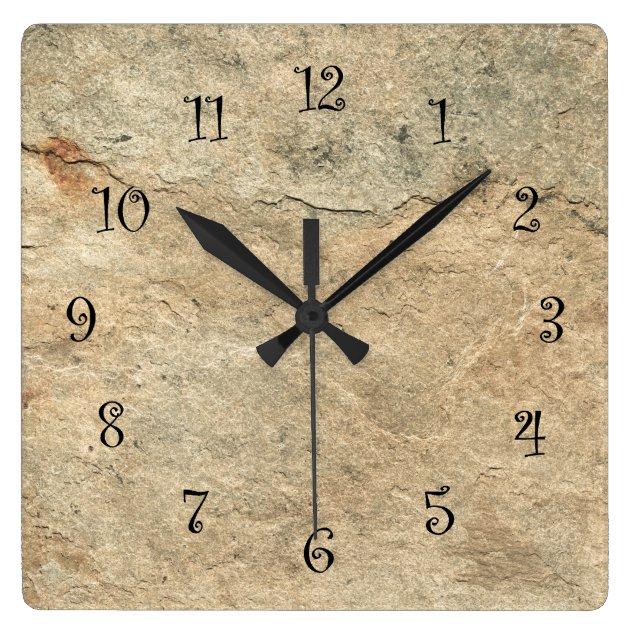 Stone Look Kitchen Wall Clocks Zazzle Com