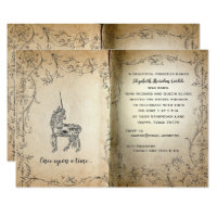 Storybook Perfect Unicorn Baby Girl Shower Card