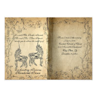 Storybook Perfect Unicorn Wedding Invitation