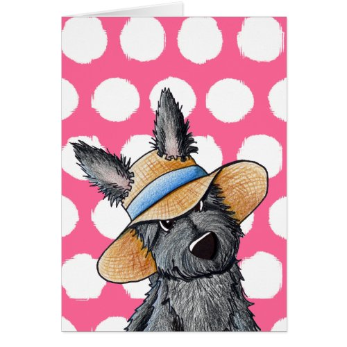 Straw Hat Scottie Dog