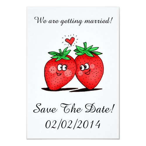 Strawberries Love - Save The Date Card