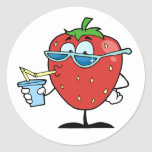 Strawberry Drinking Stickers