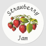 Strawberry Jam Canning Jar Label