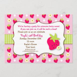 strawberry shortcake invitations zazzle