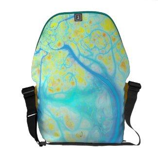 Streams of Joy – Cosmic Aqua & Lemon rickshawmessengerbag