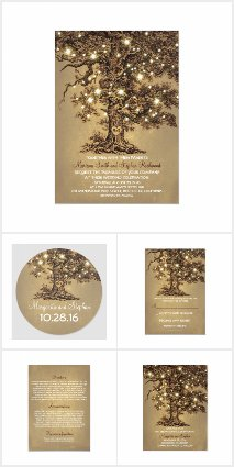 String Lights Oak Tree Wedding Collection
