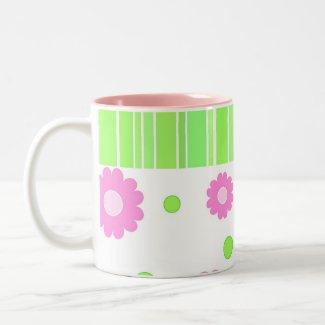 Stripes and florals - Mug