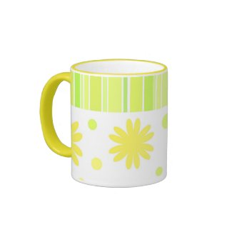 Stripes and flowers - Mug