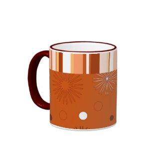 Stripes and flowes - Mug