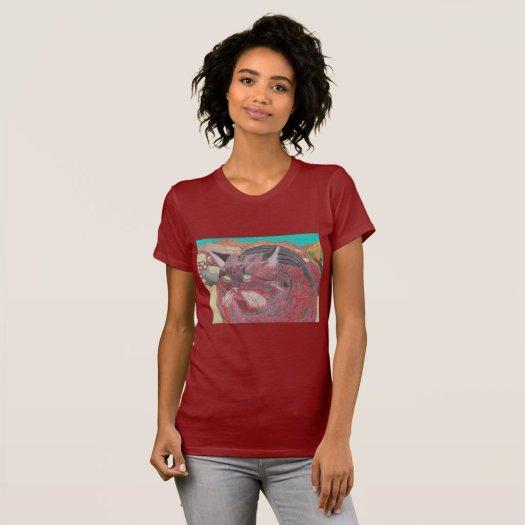 Stripey Cat At Joshua Tree T-Shirt