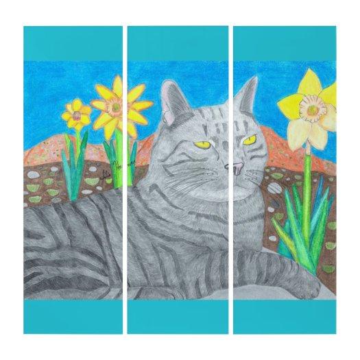 Stripey Cat In The San Bernardino Mountains Triptych