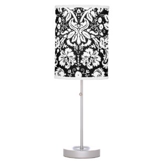 Stylish Black Damask Lamps