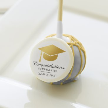 Stylish Graduation Name Congratulation Cake Pop