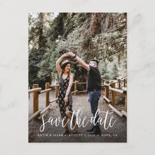 Stylish Handwritten Save the Date Postcard