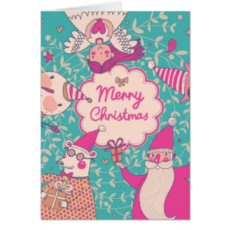 Stylish Merry Christmas Card