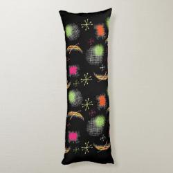 Stylish Retro Atomic Sphere Fabric Print Body Pillow