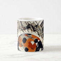 StylizeddrawingofaRedLadybug Coffee Mug