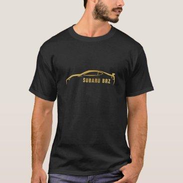 Subaru BRZ Gold Silhouette Logo T-Shirt