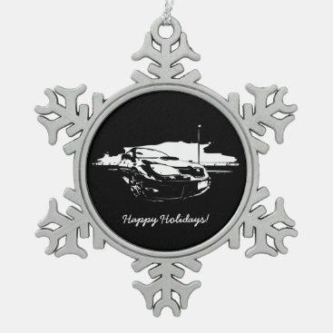 Subaru Impreza WRX STI Drift Snowflake Pewter Christmas Ornament