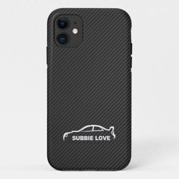 Subbie Love - STI white silhouette logo iPhone 11 Case