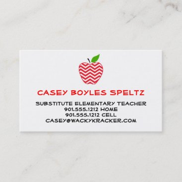 Substitute Teacher Business Cards