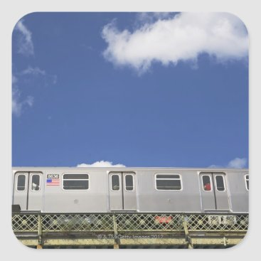Subway Cars Square Sticker