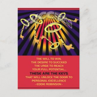 success keys postcard
