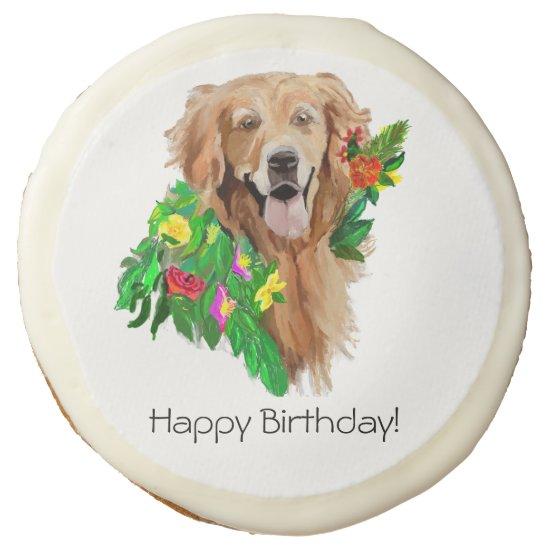 Sugar Cookie Golden Retriever Birthday Fun